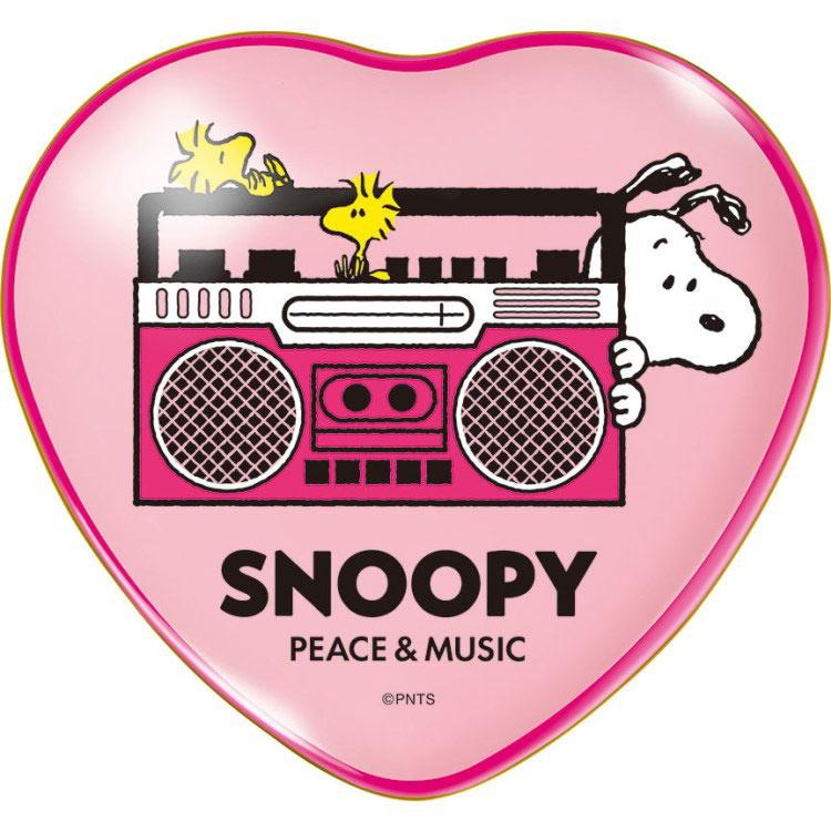 スヌーピーバレンタインギフトチョコ2020音楽音符ピンクかわいい缶箱5