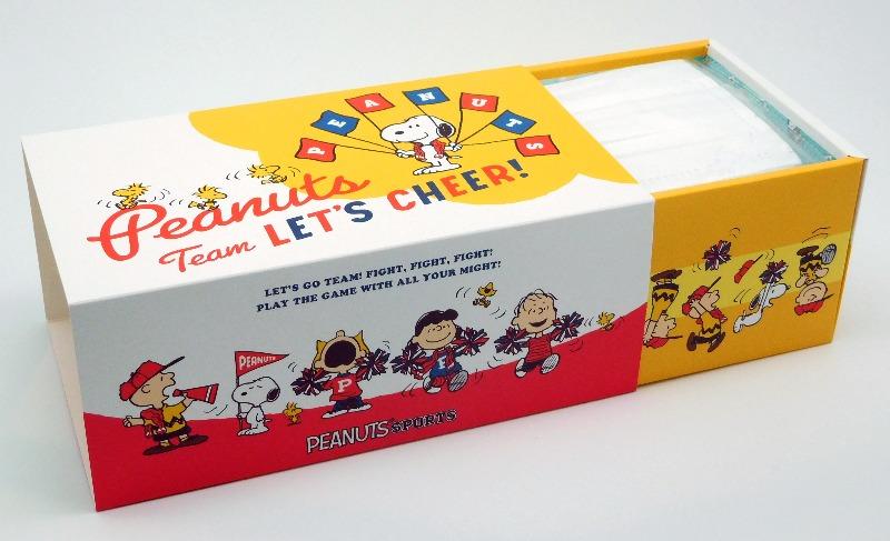 スヌーピーマスクスポーツ旗ピーナッツ応援箱入りBOX個別包装30枚2