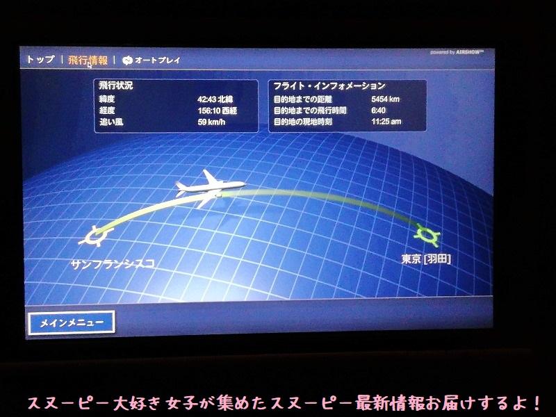 スヌーピーアメリカ旅行2020サンタローザサンフランシスコ飛行機JAL帰り16