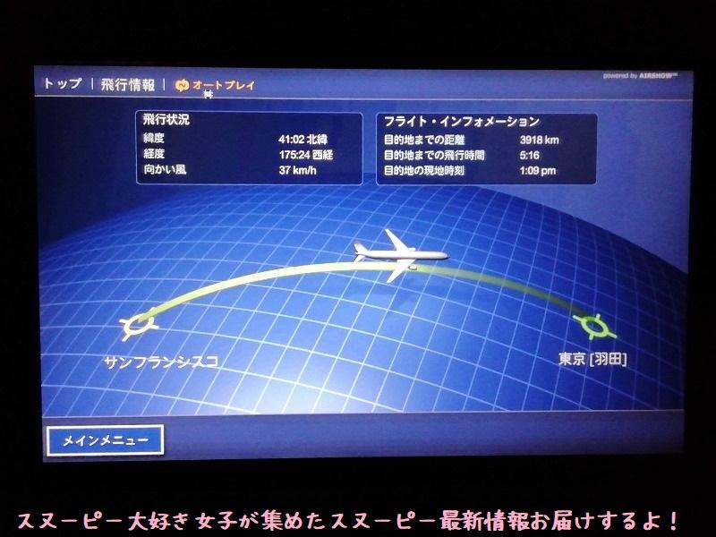 スヌーピーアメリカ旅行2020サンタローザサンフランシスコ飛行機JAL帰り20