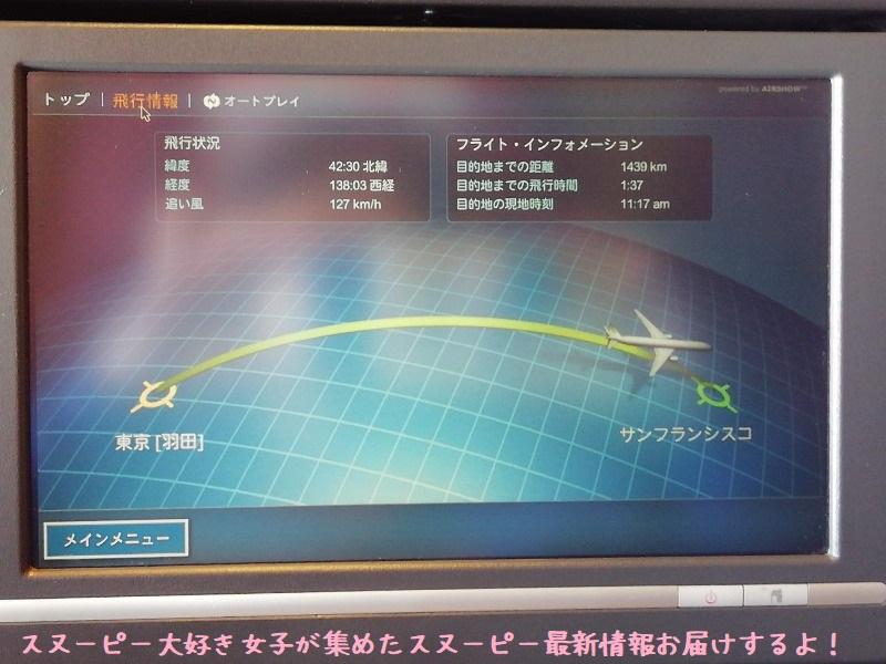 スヌーピーアメリカ旅行2020サンタローザサンフランシスコ飛行機JAL行き30