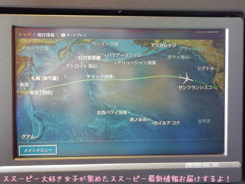 スヌーピーアメリカ旅行2020サンタローザサンフランシスコ飛行機JAL行き31