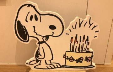 スヌーピーイベント誕生日バースデーケーキ1