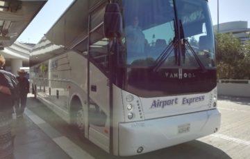 スヌーピーサンタローザサンフランシスコ空港バスエアポートエクスプレス11