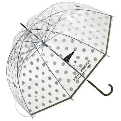 スヌーピー雨傘2020梅雨ビニール傘かわいい水玉ドット旗ピーナッツ透明4