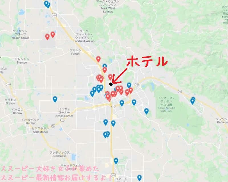 スヌーピースタチュー像アメリカサンタローザ2019年10月マップ場所確認100 (1).jpg1