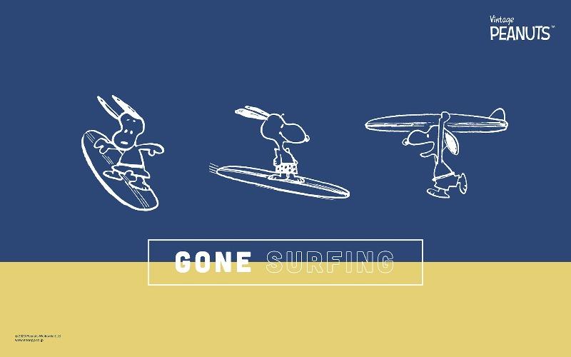 スヌーピー公式サイト壁紙待受画像2020年7月サーフィン夏海スポーツ1