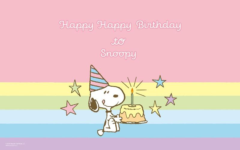 スヌーピー公式サイト壁紙待受画像2020年8月誕生日バースデーケーキ1