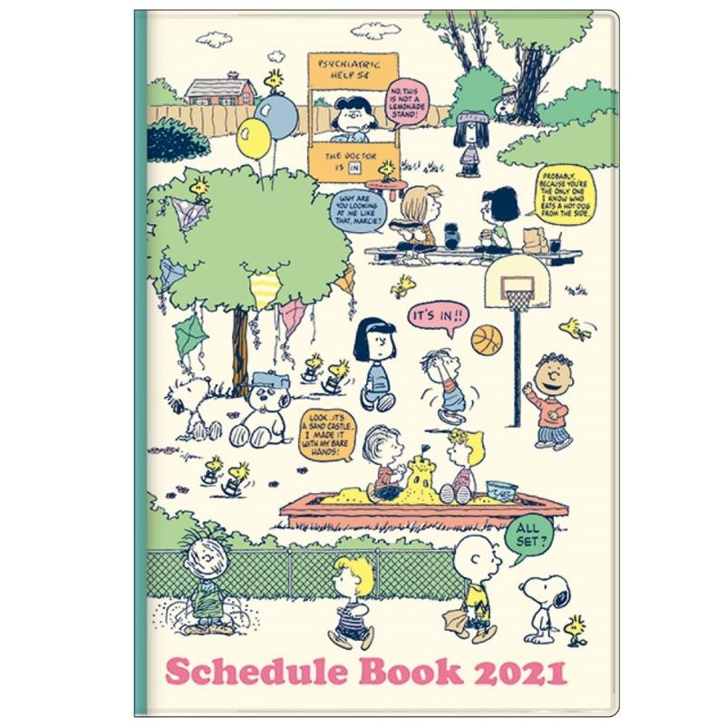 スヌーピースケジュール手帳2021年10月始まり楽天かわいいピーナッツ1