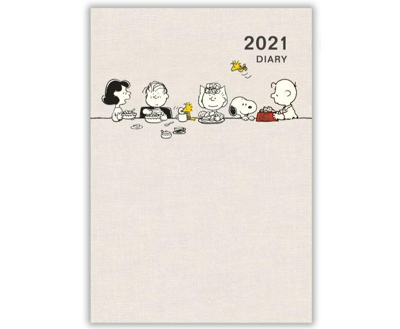 スヌーピースケジュール手帳2021年12月始まり楽天ピーナッツギャングごはん2