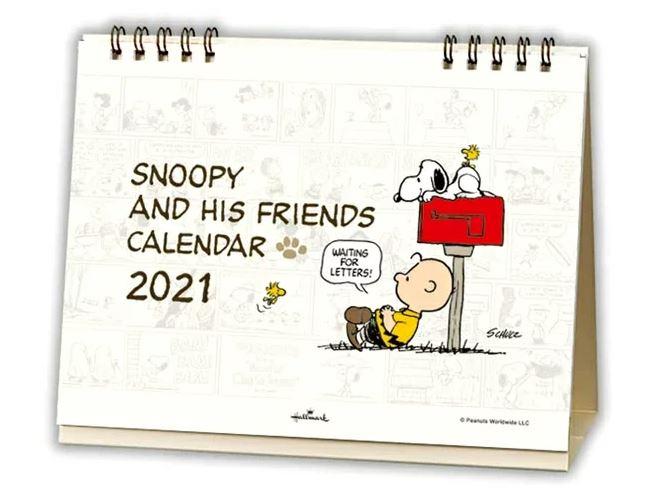 スヌーピー卓上カレンダー2021年ビーグルスカウトピーナッツかわいい楽天2