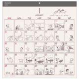 スヌーピー壁掛けカレンダー2021年ピーナッツコミック吹き出しかわいい楽天4