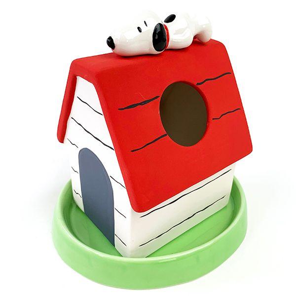 スヌーピー素焼き加湿器乾燥エコ電気代節約赤い犬小屋かわいい楽天1