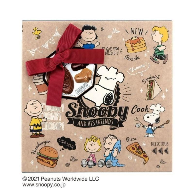 スヌーピーバレンタインギフトチョコ2021料理長パンケーキチョコチップクッキー1