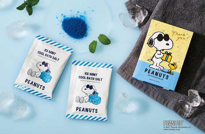 スヌーピージョークール2021バスソルト入浴剤かわいい涼しいアイスミント3